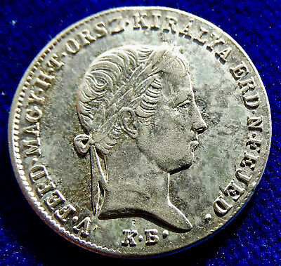 Hungary 10 Krajczar 1848 K· B· War of Independence Silver Coin. One Year Type.