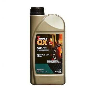 Car Engine Oil Triple QX SAE 5W30 Fully Synthetic For GM applications 1L Litre