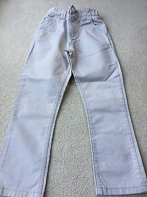 Boys *NEXT* Stone Coloured Jeans Age 6 In Excellent Condition