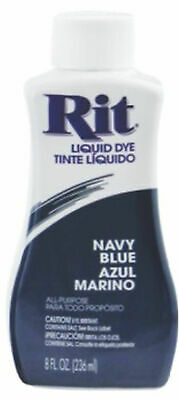 RIT All Purpose Liquid Fabric Dye 236ml (8 FL OZ) NAVY BLUE