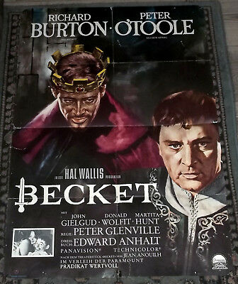 Filmplakat: Becket (EA1964) Richard Burton Peter O'Toole