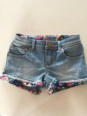 Girls Roxy Denim Shorts Size 5