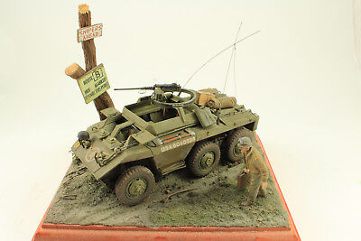 US M20 Armored Car 1/35 Built and painted Diorama/Vignette