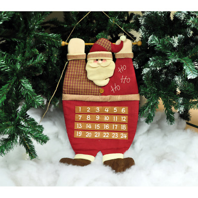 Material Plush Luxury Hanging Advent Calendar Traditional Christmas Decoration