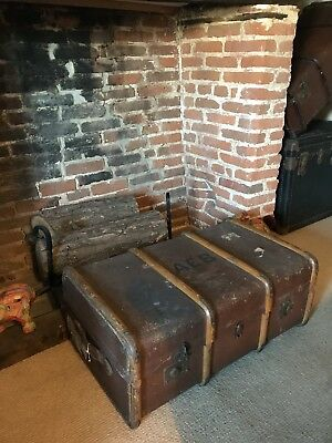 Original Vintage Leather Suitcase
