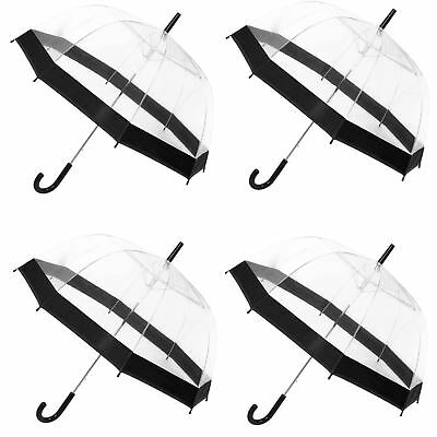 4PK Dome Wedding Umbrella Canopy Fashion Accessory Outdoor Rain Proof Protection