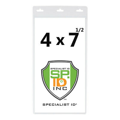 """10 Pack 4x7 Extra Large Badge & Ticket Holders for Special Events- 4"""" X 7"""" Inch"""