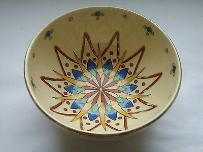 Vintage Royal Doulton bowl abstract flower pattern