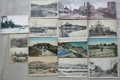 lot x 14 antique postcards China 1925 cartes postales anciennes Chine