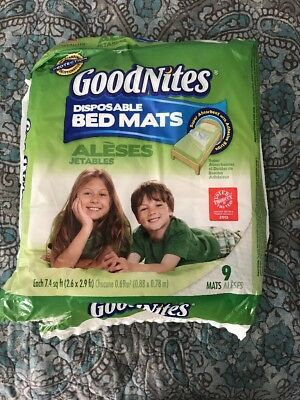 Goodnites 6 Disposable Bed Mats 2.4 Ft X 2.8 Ft Trusted Nighttime Protection