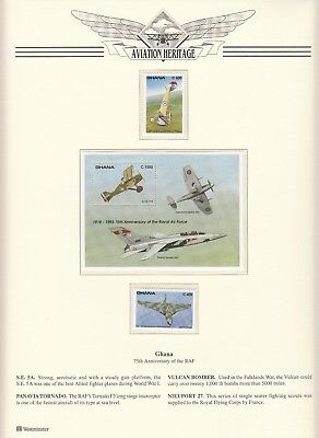 1993 Ghana 75th Anniversary of the Royal Air Force Stamps & Sheet