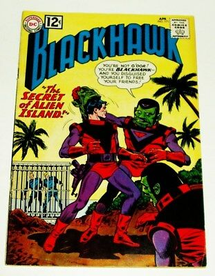 Dc Comics #171 Blackhawk Silver Age Comic 4/1962 Fine/very Fine-
