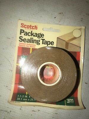 New in Package Roll of Old Stock Scotch Package Sealing Tape