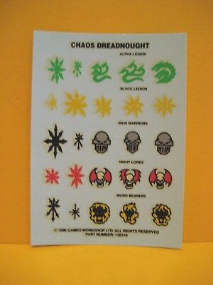 Warhammer 40k - Chaos Space Marines - Dreadnought - Decals - Transfer Sheet