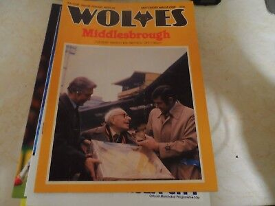 Wolverhampton Wanders v Middlesbrough 1980/81 FA Cup