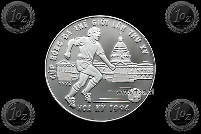 VIETNAM 100 DONG 1992 (SOCCER WORLD CUP '94) SILVER Commem. Coin (KM# 70) PROOF