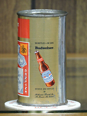 Bottle On Side Budweiser Anheuser-Busch At St.louis Mo. Flat Top Beer Can # 44-5