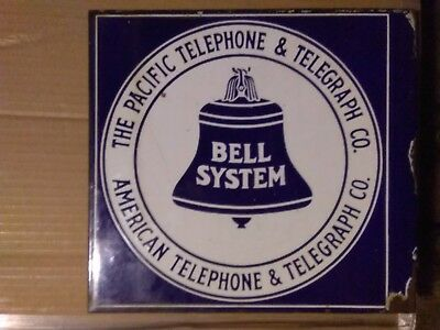 Pacific Telephone & Telegraph Porcelain Sign