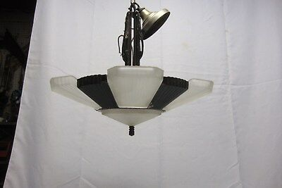 Antique Art Deco 5 Light Slip Shade Chandelier #27 of 40 1of2 Matching