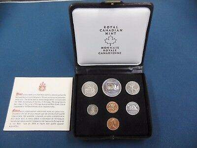 1974 Royal Canadian Mint 7 coin set