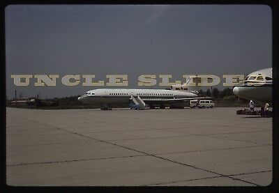 Original Airplane Slide China Xian Airport  CAAC Airlines 50057 1986 Kodachrome