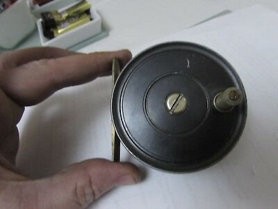 rare vintage JW youngs stamped early pattern 1 trout fly fishing reel 3""