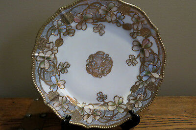 1891 to 1921 Vintage Nippon China Plate Clover and Berry with Gold