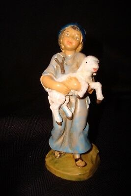 """NWOT Fontanini Nativity By Roman Hand Painted In Italy Shepard Boy 4"""""""