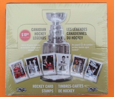 2017 Canada Post Stamps Canadian NHL Hockey Legends Sealed Box of 10 Packs Sets