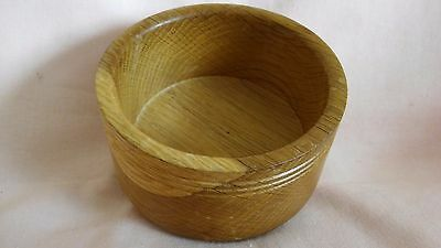 Vintage Small Turned Wooden Desk Bowl/pot In Good Used Vintage Condition.