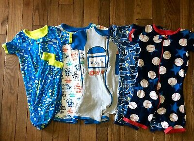 Fantastic Children's Place Pj stretchie/rompers with zippers! 5t