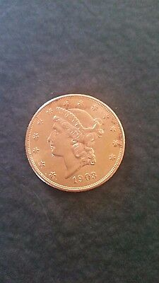 1903 Liberty Head Gold $20 Double Eagle Coin.............nice................nr!