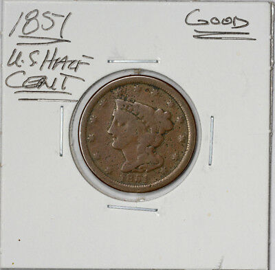 1851 Half-Cent Half-Penny Good