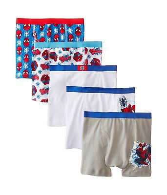 Marvel Boys' Spiderman 5 Pack Boxer Brief Assorted Little Boys 6