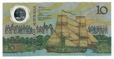 1988 Australia 10 Dollar Commemorative Polymer Note, P-49b