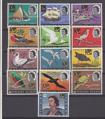 PITCAIRN ISLANDS: 1967 QEII Defins set of 13 stamps. SG69/81.MUH/MNH.Very Scarce