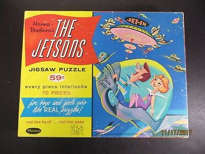 Vintage 1962 The Jetsons 70 Piece Jigsaw Puzzle Used Complete Whitman