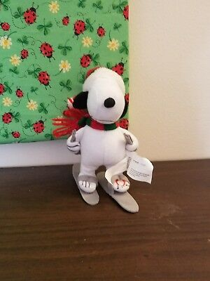 Winter Musical Snoopy Plush 9in