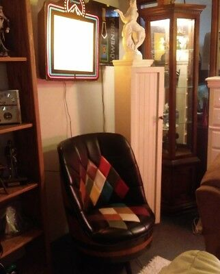 Single Mid Century Brothers Furniture Whiskey Barrel Swivel Chair FREE SHIPPING