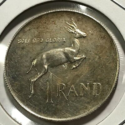 1973 South Africa Silver One Rand Brilliant Uncirculated 20,000 Mintage