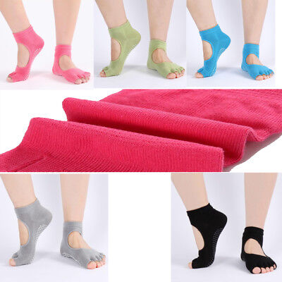 2017 New Cotton Gym Yoga Socks Non Slip Skid With Grips For Women Sports Sock