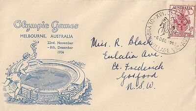 Olympic Games 1956 stamp Australia on Arnold Wheeler FDC pentathlon postmark