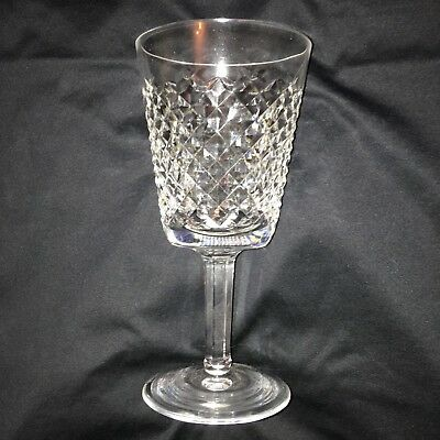 """Lovely Set of 6 Waterford Alana 7"""" High Water or Red Wine Glasses"""