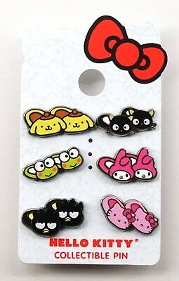 NEW Universal Studios Park Hello Kitty Collectible set of 6 Slipper Pins