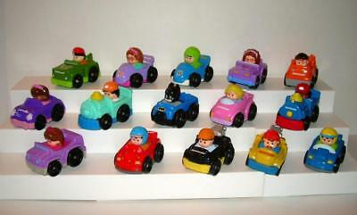 Lot of 15 Fisher Price Little People Wheelies, Batman, Train and More