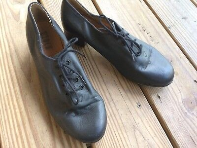 Bloch Adult Black Tap Dance Shoes Toddler size 11 Leather Upper and Sole