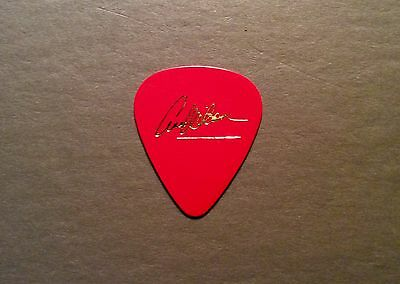 LOOK - Vintage HEART Ann Wilson gold on red one sided guitar pick!!!