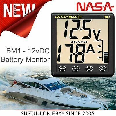 NASA Marine BM1 Clipper Battery Monitor - 12VDC + 5m Cable Included│For Boats
