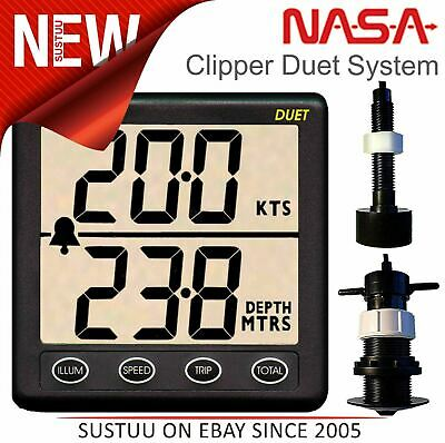 NASA Marine Clipper Duet with Paddlewheel & In hull Transducer│Speed-Di/Log/Echo