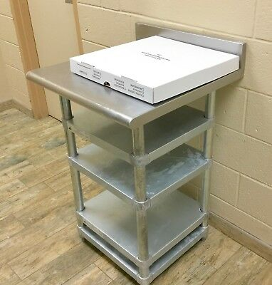 "kcs resturant supply inc 24""x24"" stainless steel table with shelves"